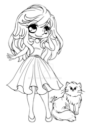 Alyce and Lila Bear ::Open Lineart:: by YamPuff