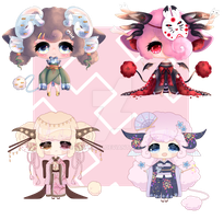 New years Collab Auction adopts!! (OPEN 1/4) by Saiphirre