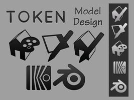 Token 3D Modeling Icons by chrisringeisen