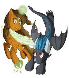 Kenisu and Cailadelrose (Commission) by Kenisu-of-Dragons