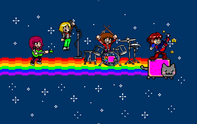 Nyan Band Wagon For My Sex Bom-ombs by supergrat