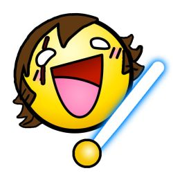 Happy Anakin with Lightsaber by ElTheGeneral