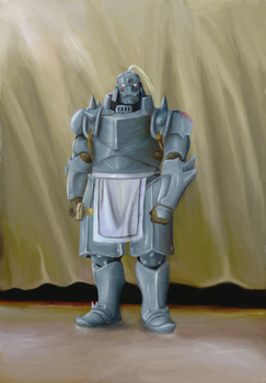 Alphonse Elric Digital Oil Painting by cochinosanchez