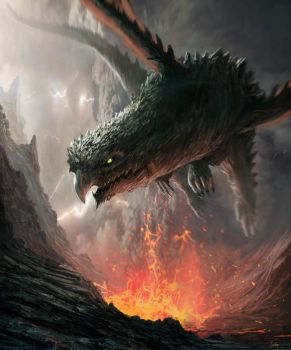 dragon of hell by JulioDionizioArt