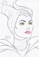 Angelina Jolie as Maleficent by filipeoliveira