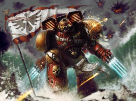 Warhammer 40k - Blood Angel Assault Marine by JacobTwitchellArt
