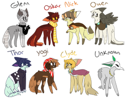 My Boy Characters by Northii