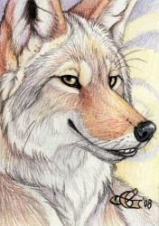 King of Trouble - ACEO by Goldenwolf