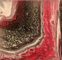 Red and Black Geode by Kozmalia