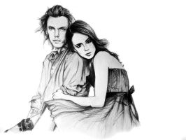 Lily Collins and Jamie Campbell Bower by ambreso