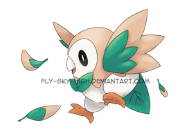 Pokemon: Rowlet! by Fly-Sky-High