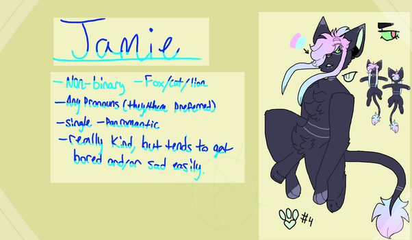 (MAIN FURSONA) Jamie Ref 2018 by sIushies