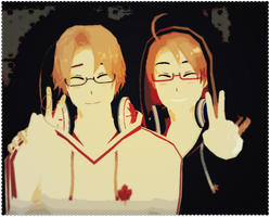 MMD - North American Brothers! by Shichi-4134