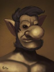 Aristocractic goblin by IcedEdge