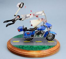 Custom Motorcycle Cake Topper by stillifewithshadow