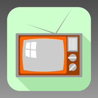 Flat old TV icon by ivprogrammer