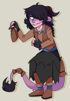 Chance the Tiefling by Basscarrier
