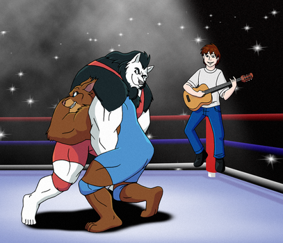 Commission - Wrestling to a Different Tune by FantasyFlixArt