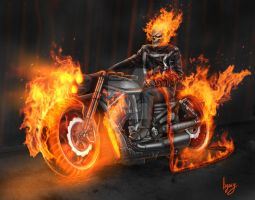 Marvel Ghost Rider Fan Art by Legacy666legacy