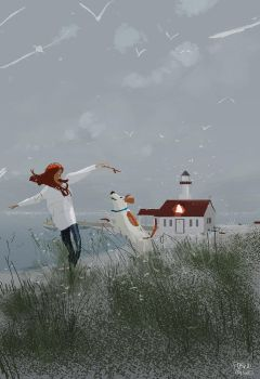 Winter Afternoon by the coast by PascalCampion