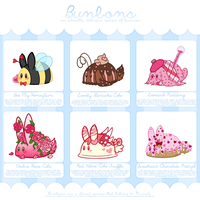 [CLOSED] Bunbon Adoptables - Set 14 *THEMED SET* by Kiwicide