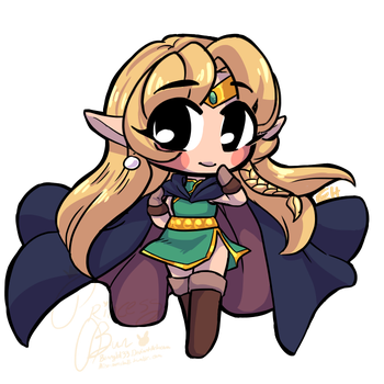 Itty Bit Chibi Commission for Pyrites1 by bunnyb133