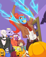Pumpkin Party at Undyne's by Trelock