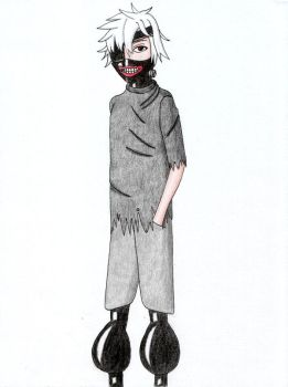 Kaneki with Big Knees by Schwarzer--Ritter