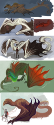 Unfinished Dragons by Aazure-Dragon