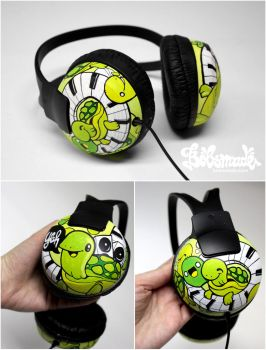 Turtle Headphones by Bobsmade