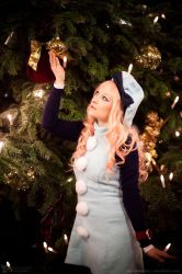 Macross Frontier: Sheryl Nome Blue Winter Dress 4 by Rubyrelle