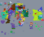 FHF Gielinor Map with real world flag parallels by FlagArmadaProductns