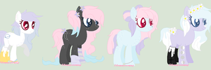 Pink Rose x Saturn Dream Breedable results / OPEN! by floweycrowns