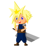 Cloud Strife Graphic by TionneDawnstar