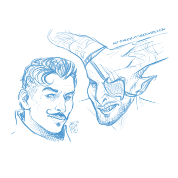 Dorian and Iron Bull - Cooldown by Mickeyila