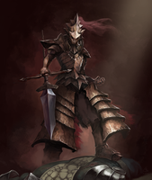 Dragonslayer Ornstein by christianactn