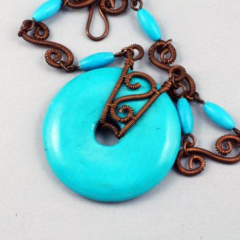 Copper and Blue Chalk Turquoise GIVEAWAY by Gailavira