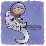 space pangolin [on redbubble] by GirlWithTheGreenHat