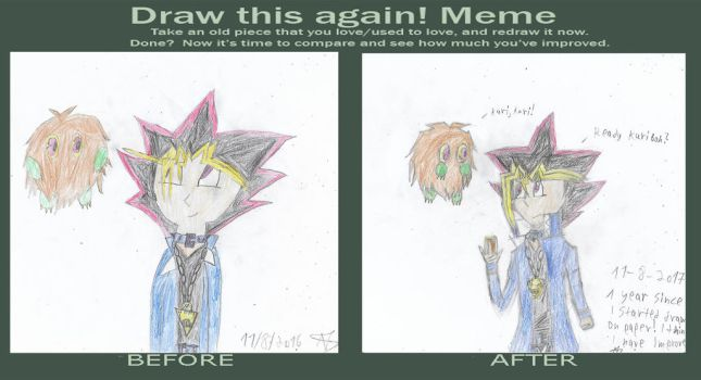 Draw this again! 1 year of drawing! by Nefeloma21