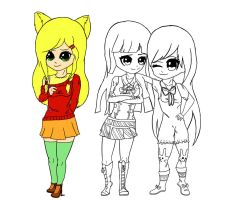 Three Friends WIP (2) by GalaxyCalotype