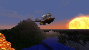 minecraft steampunk airship by newdeal666