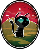 Little black cat by karambolera