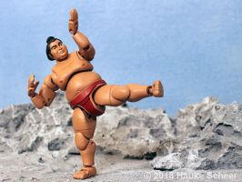 3D printed Sumo action figure pose F by hauke3000