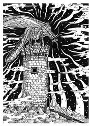 Inktober Day 16 - The Beast Of Celestial Tower. by Raven-HD-Maverick