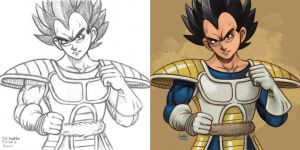 Daily Sketches Vegeta by fedde