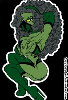 Charon as Reptile2 by DeVanceArt