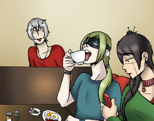Otp Coffee Date by SilverWingPrime