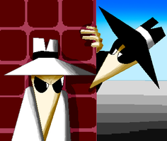 Spy vs Spy make in paint by Poka-SorM