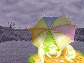 Under an umbrella by hellgus