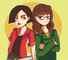Jane and Daria by DiamondMuffins